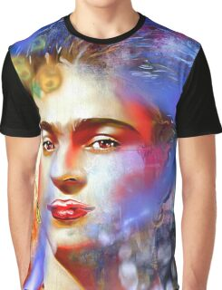 Frida Kahlo Painted Graphic T-Shirt