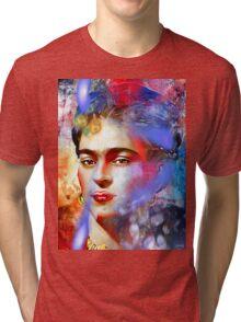 Frida Kahlo Painted Tri-blend T-Shirt