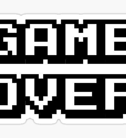 Game Over digital design Sticker