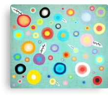 Colorful Happy Circles Metal Print