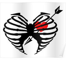 Arrow Though Ribs and Heart (in-love) Poster