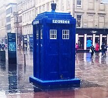 Tardis in the rain by IamJane--
