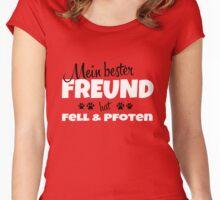 Mein bester Freund hat Fell & Pfoten Women's Fitted Scoop T-Shirt