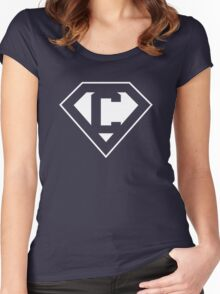 C letter in Superman style Women's Fitted Scoop T-Shirt