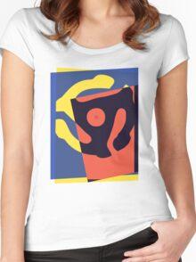 Pop Art 45 Symbol 1 Women's Fitted Scoop T-Shirt