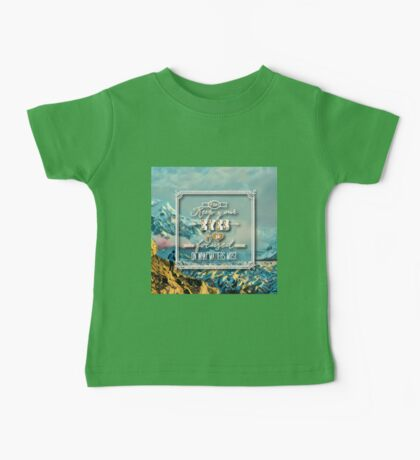 Keep your eyes & focus on what matters most.typography.cool text,beautiful,painted ice landscape,modern,contemporary art Baby Tee