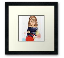 Painted girl, animation, Framed Print