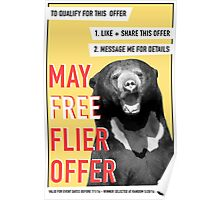 May Free Flier Offer  Poster