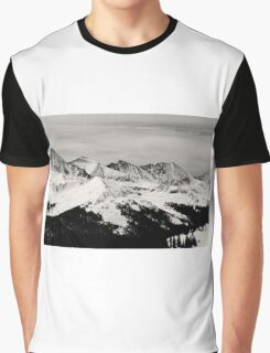 Black and white mountain Graphic T-Shirt