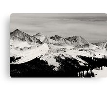 Black and white mountain Canvas Print