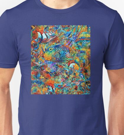 Tropical Beach Art - Under The Sea - Sharon Cummings Unisex T-Shirt