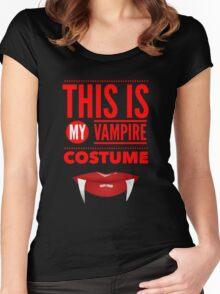 Funny Halloween TShirt Hoodie Costume This is my Vampire Costume Women's Fitted Scoop T-Shirt