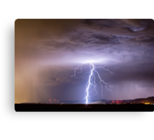 Lightning Strikes Following the Rain  Canvas Print