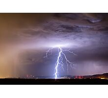Lightning Strikes Following the Rain  Photographic Print
