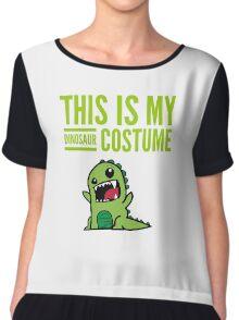 "Funny Halloween Costume ""This Is My Dinosaur ""  Chiffon Top"