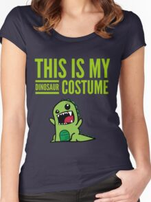 "Funny Halloween Costume ""This Is My Dinosaur ""  Women's Fitted Scoop T-Shirt"