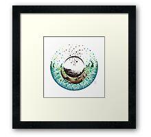 Blue-Green Otter Eye Framed Print