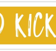 Gold Kickline Sticker