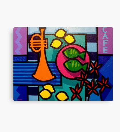 Still Life With Trumpet  Canvas Print