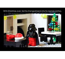 Santa's Normal Clothes Photographic Print