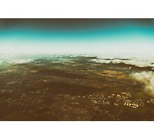 Aerial Photo Of Earth Horizon Photographic Print