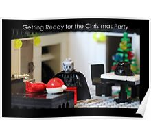 Getting Ready for the Christmas Party Poster