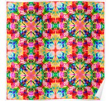 Colors of the kaleidoscope. Colorful ornament.  Poster