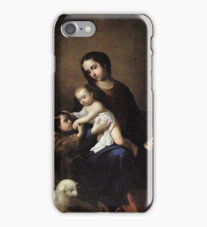 Francisco de Zurbarán The Virgin and Child with the Infant St. John the Baptist, iPhone Case/Skin