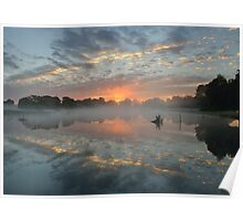 Heron Pond Sunrise Poster