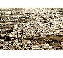 Aerial Photo Of Valencia City Surrounding Area In Spain Photographic Print