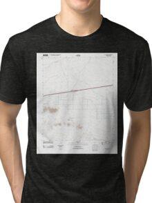 USGS TOPO Map Arizona AZ Aztec Hills 20111108 TM Tri-blend T-Shirt