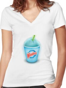 Win.exe Slurpee  Women's Fitted V-Neck T-Shirt