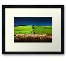 Brecon field south Wales Framed Print