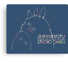 Studio Ghibli Totoro Floral Canvas Print