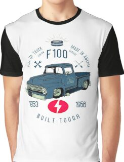 Ford F100 Truck Built Tough Graphic T-Shirt
