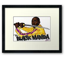THE BLACK MAMBA Framed Print