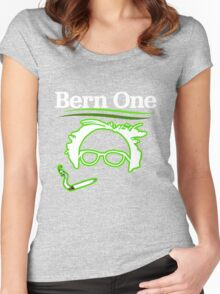 BERN ONE!! SMOKE 4 BERNIE - 2016! 410 BERNIE SANDERS Women's Fitted Scoop T-Shirt