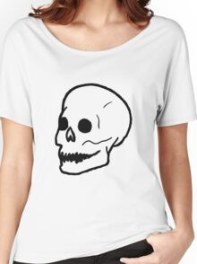 Patch Skull Women's Relaxed Fit T-Shirt