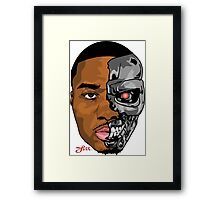 HALF MAN HALF MACHINE  Framed Print