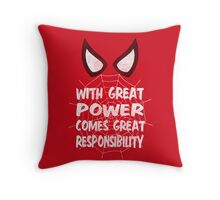 With great power... ( Spider-man ) Throw Pillow
