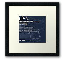 UD-4L Cheyenne Dropship Framed Print