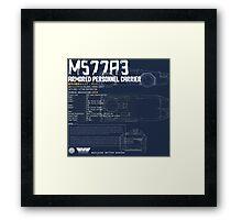M577A3 Armored Personnel Carrier Framed Print