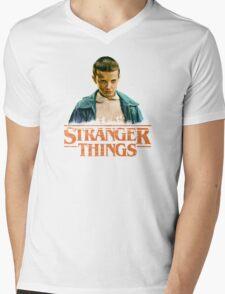 Stranger Things Eleven Mens V-Neck T-Shirt