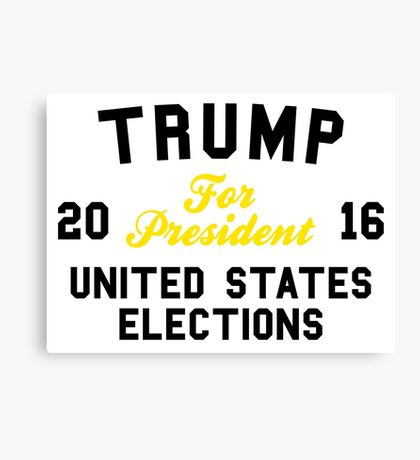 Trump For President United States Elections Canvas Print