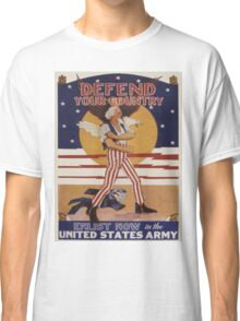 Vintage poster - Defend Your Country Classic T-Shirt