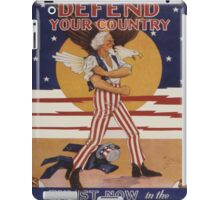 Vintage poster - Defend Your Country iPad Case/Skin