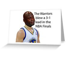 The Warriors Blew A 3-1 Lead In The NBA Finals Greeting Card