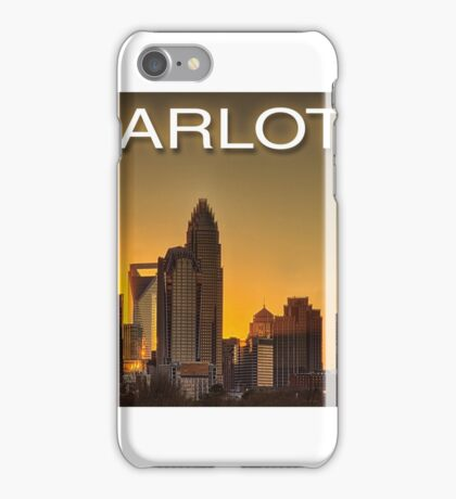 charlotte nc skyline iPhone Case/Skin