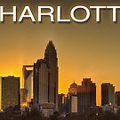 charlotte nc skyline by ALEX GRICHENKO