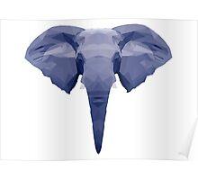 Geometric Elephant Face Poster